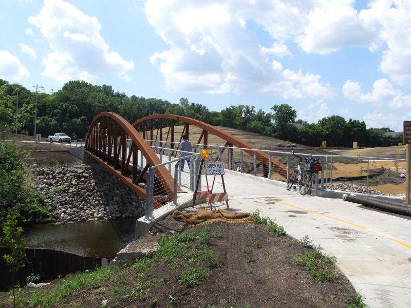 "Bit of work being done before ""Krajewski's bridge"" is ready for grand opening."