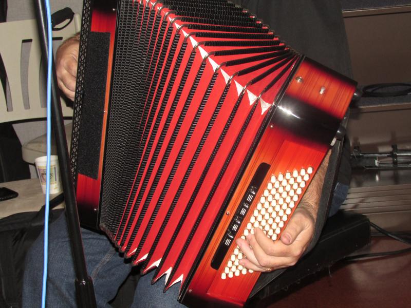 Jimmy Keane's keyboard accordion.