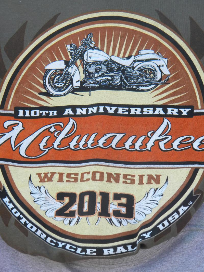 A logo for the motorcycle rally to celebrate Harley-Davidson's 110th anniversary.