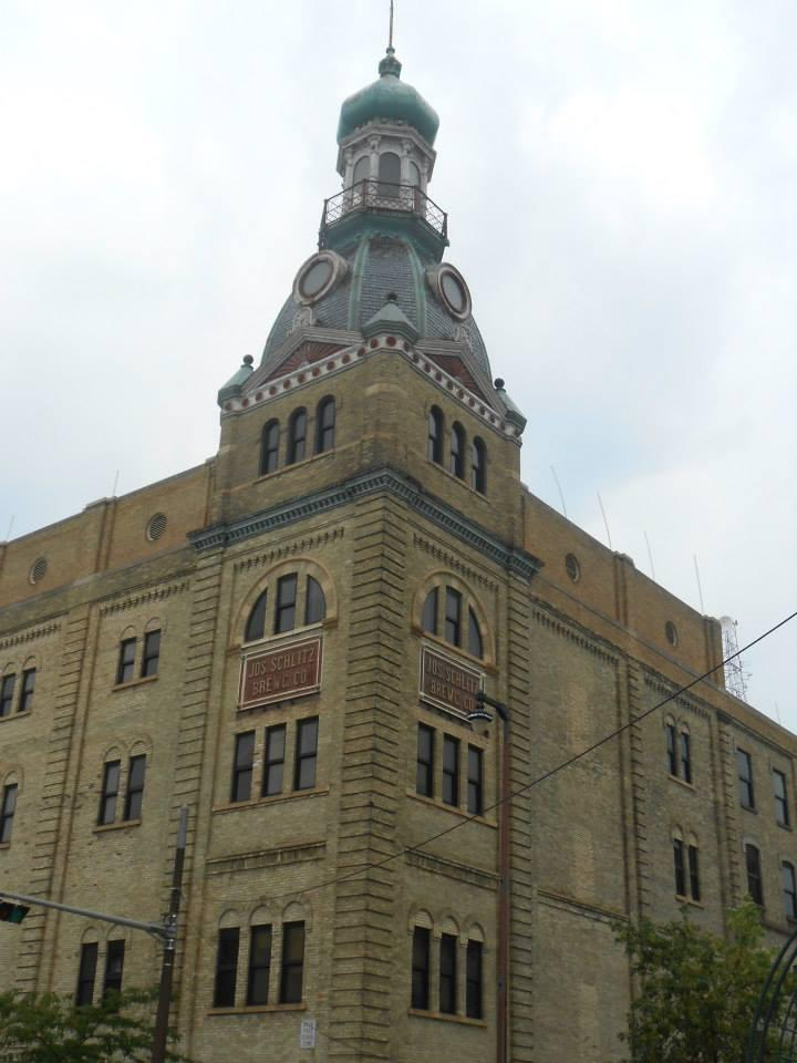 Schlitz Brewery, located along Martin Luther King Jr. Drive and Pleasant Avenue.