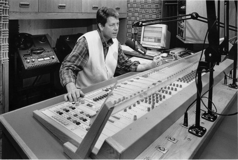 Bob Bach in studio in the 1980s