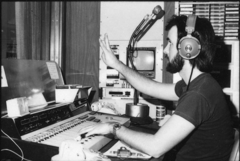 Bruce Winter in studio in the 1980s