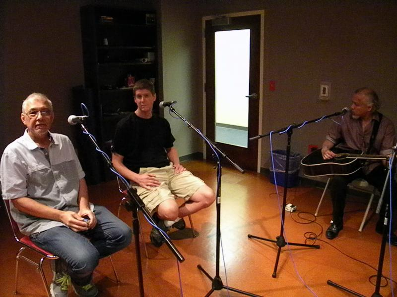 Gary Tanin, Doug Vincent, and Sam Llanas in the Lake Effect studio.