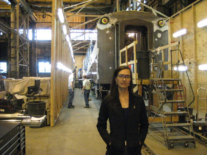 Avalon Rail president June Garland offers an inside look at the company's West Allis train rehab shop.