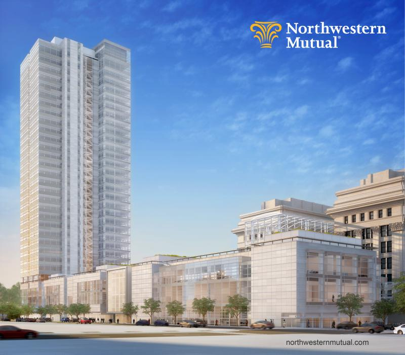 Northwestern Mutual Tower and Commons will be 32-stories tall.