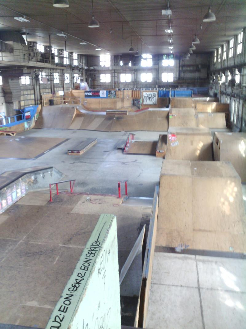 The view inside the 4 Seasons Skatepark in Milwaukee