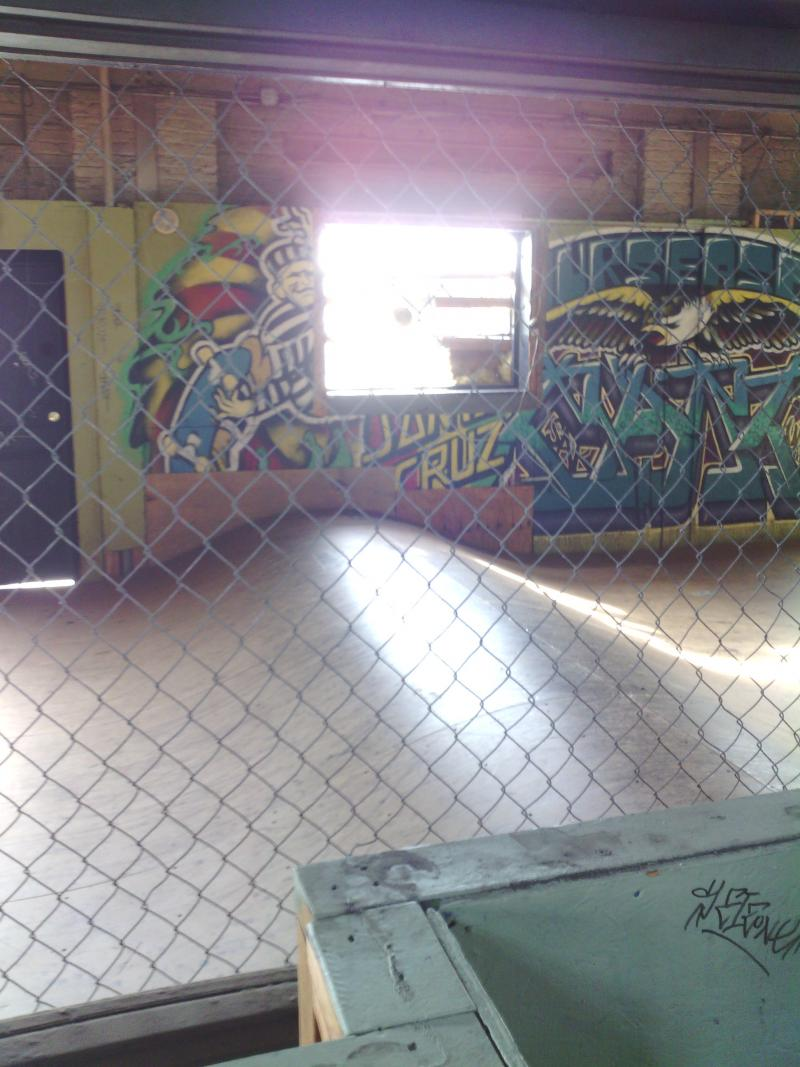 "The ""Ramp Room"" inside the 4 Seasons Skatepark"
