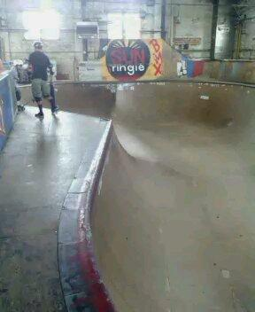 """The Bowl"" inside the 4 Seasons Skatepark"