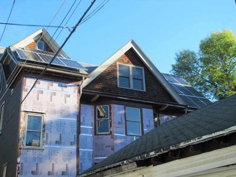 Another Riverwest solar system.  Participating homeowners also added energy efficiencies - such as insulation - in preparation for Solar Riverwest.
