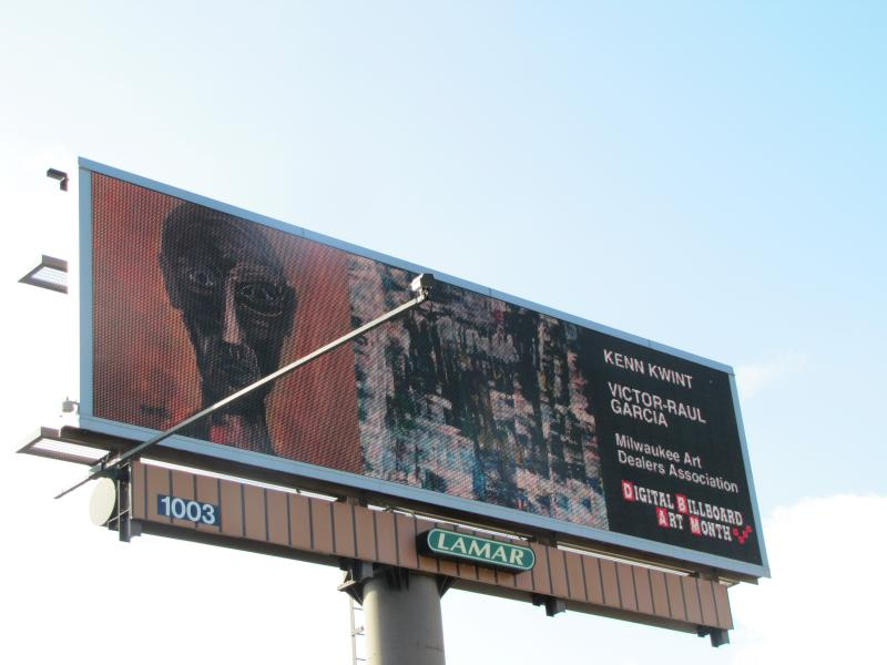 Art goes digital on 18 area billboards - this one at North and Oakland.