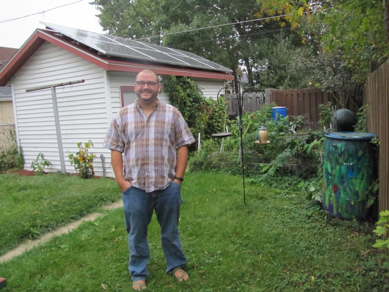 Riverwest resident Steve Jerbi calls his solar installation an investment in community