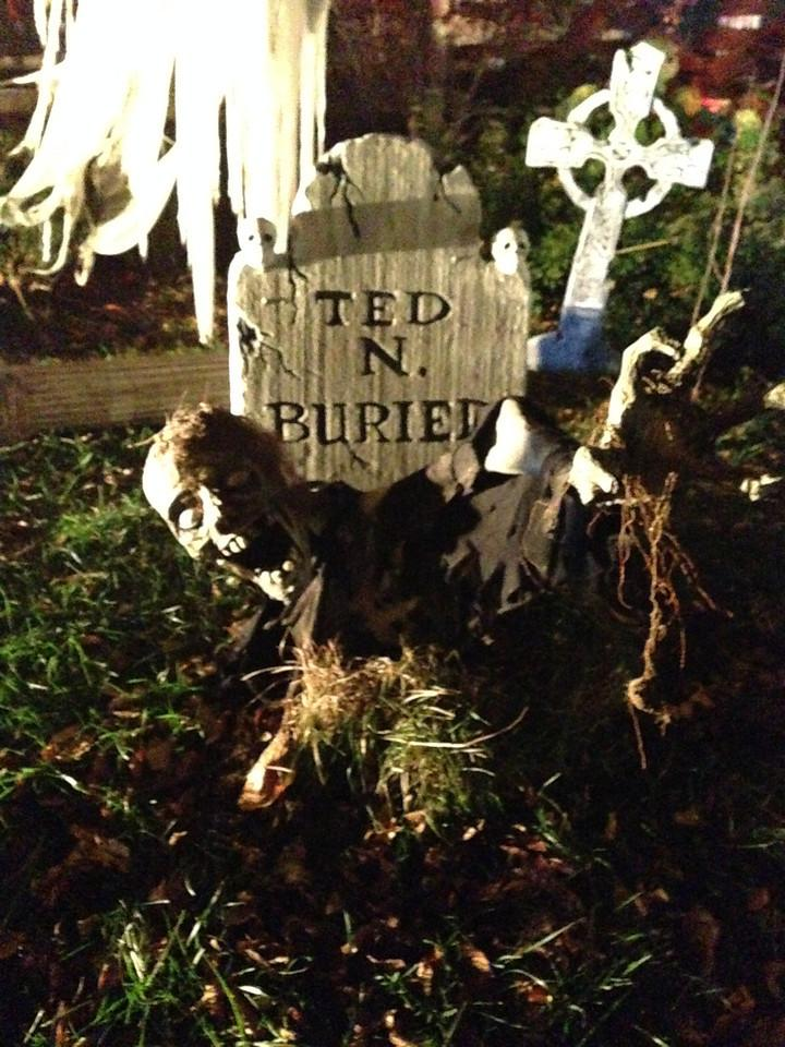 Ted N. Buried comes back from the grave - courtesy of Washington Highlands' resident Kyle Chen and his imagination.