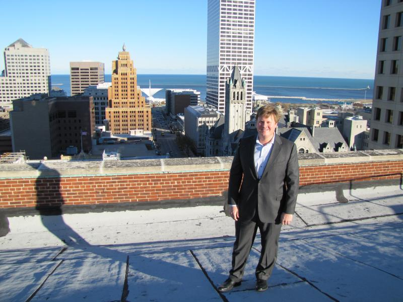 Eric Nordeen plugged into Milwaukee's Me2 Program to retrofit the Wells Building with energy effficiencies.