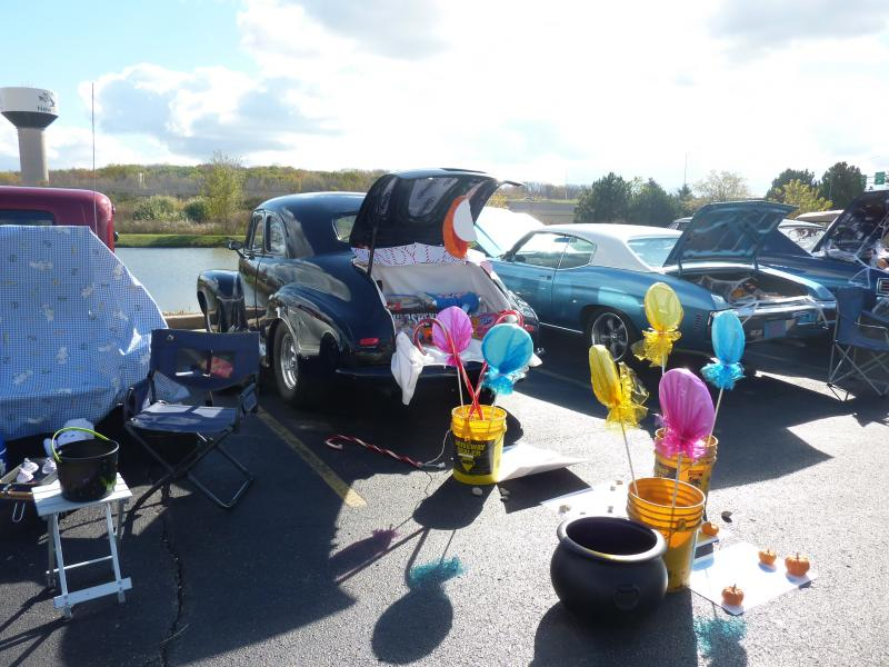 A Candyland-themed car at the the trunk-or-treat event at the car-themed restaurant Quaker Steak and Lube  in New Berlin on October 26th