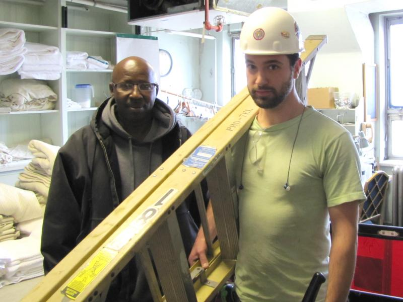 Eddie Hughes and Kevin Mamerow hired through Milwaukee's residential preference program - an element of City's Me2 program.