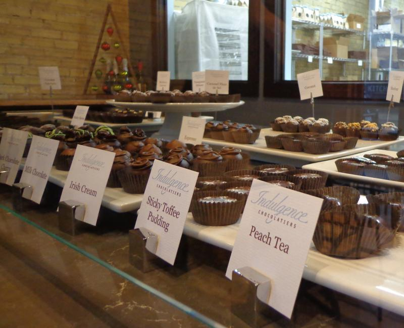 Indulgence Chocolatiers' wide variety of truffles.