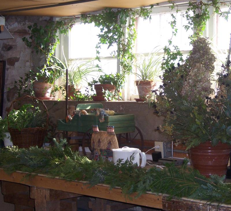 The garden shed of historical plants at Old World Wisconsin