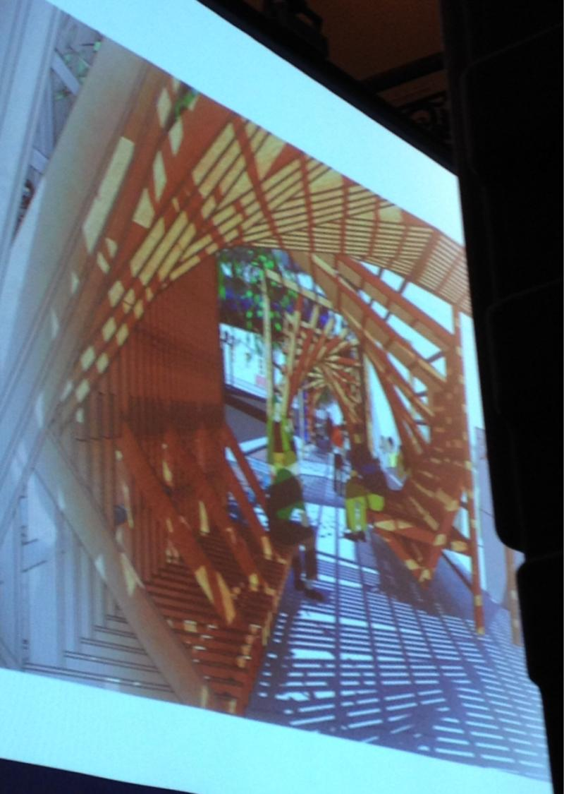 Bestul's pavilion - as seen on screen during presentation.