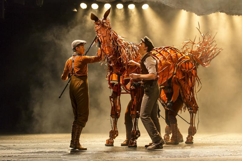 "The relationship between character Albert (left) and Joey, his horse who is pressed into service in WWI, is at the heart of ""Warhorse."""