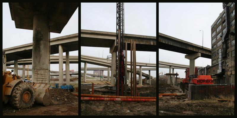 Marquette Interchange in progress