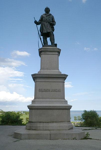 The Solomon Juneau statue was restored in 1996.