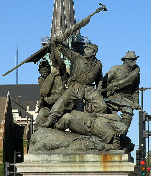 The Victorious Charge sculpture was restored in 2003.