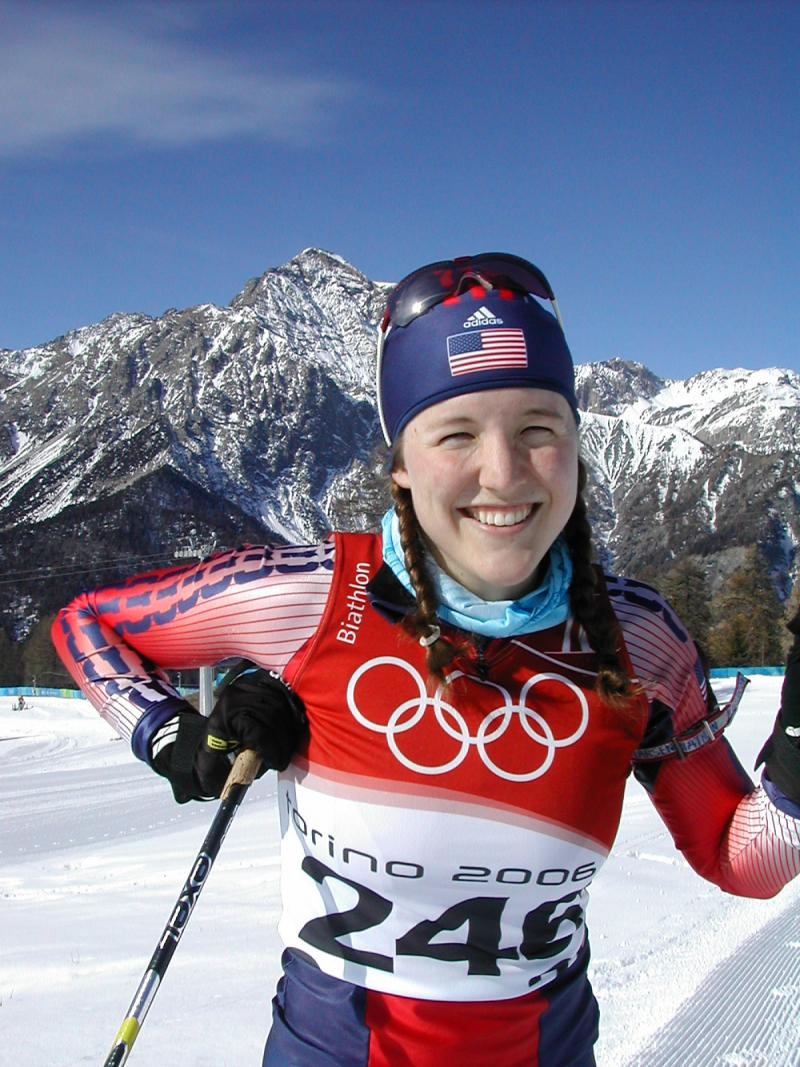 Biathlete Carolyn (Treacy) Bramante represented the United States in the 2006 Winter Olympics in Torino.