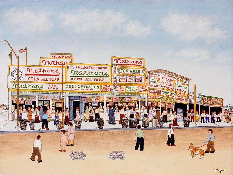 Nathan's Coney Island, 1971, Paint on canvas