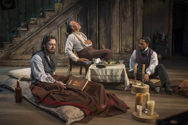 (L – R) Josh Landay, James Craven and Ro Boddie in Milwaukee Repertory Theater's 2013/14 Stiemke Studio production of The Whipping Man.