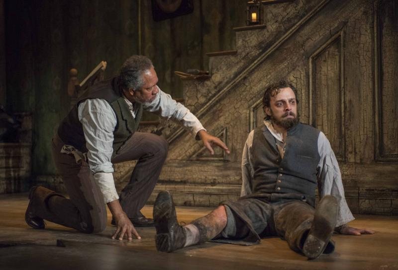 James Craven and Josh Landay in Milwaukee Repertory Theater's 2013/14 Stiemke Studio production of The Whipping Man.