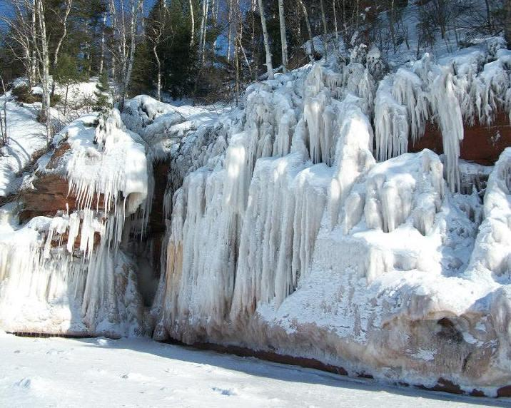 Visitors must walk more than two miles on ice to access the caves.