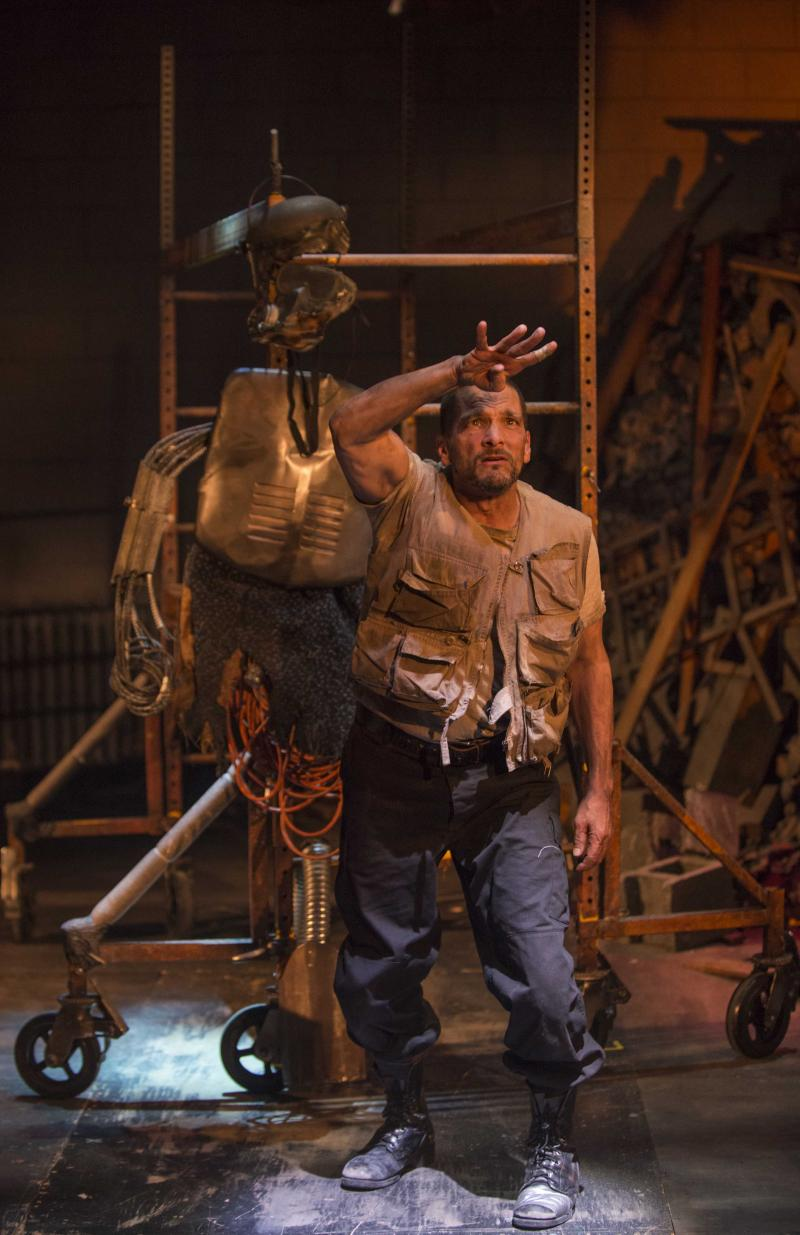 "Jim DeVita as the Poet in Milwaukee Repertory Theater's 2013/14 Quadracci Powerhouse production of ""An Iliad"""