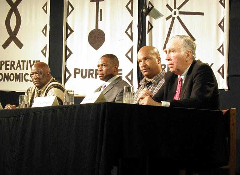 Panelists Willie Brisco, Mark Evans, Torre Jackson and E. Michael McCann