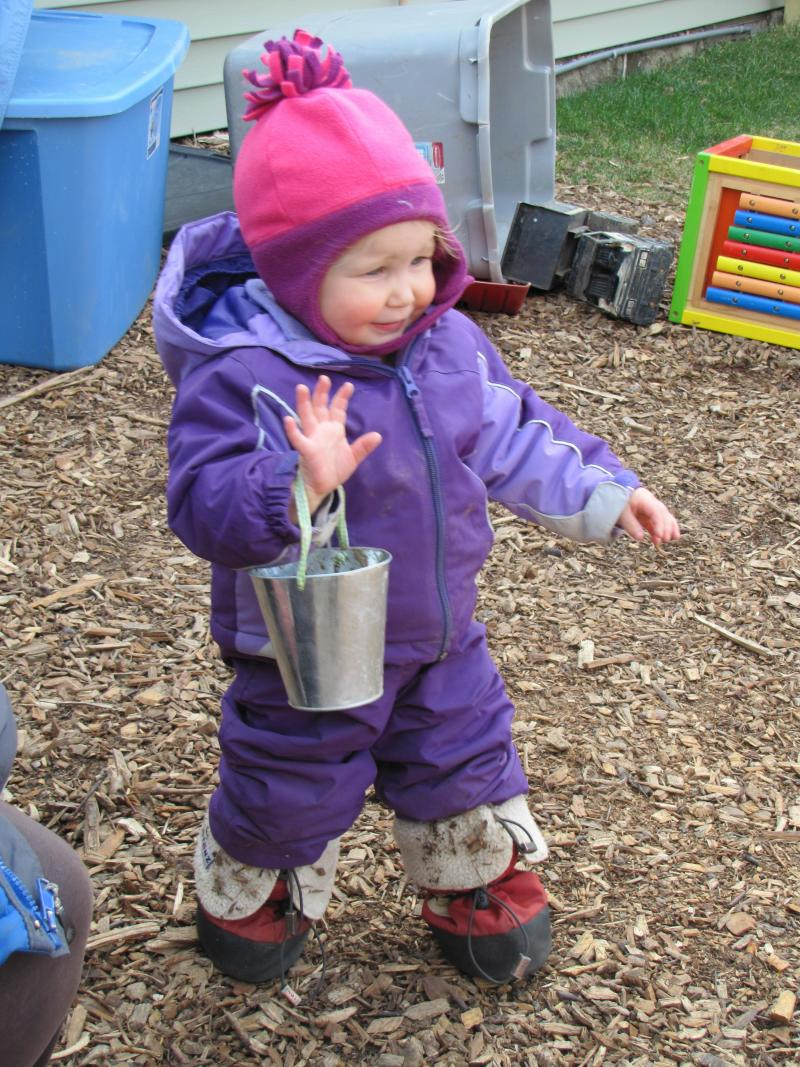 The sweet feeling of success - bucket in hand