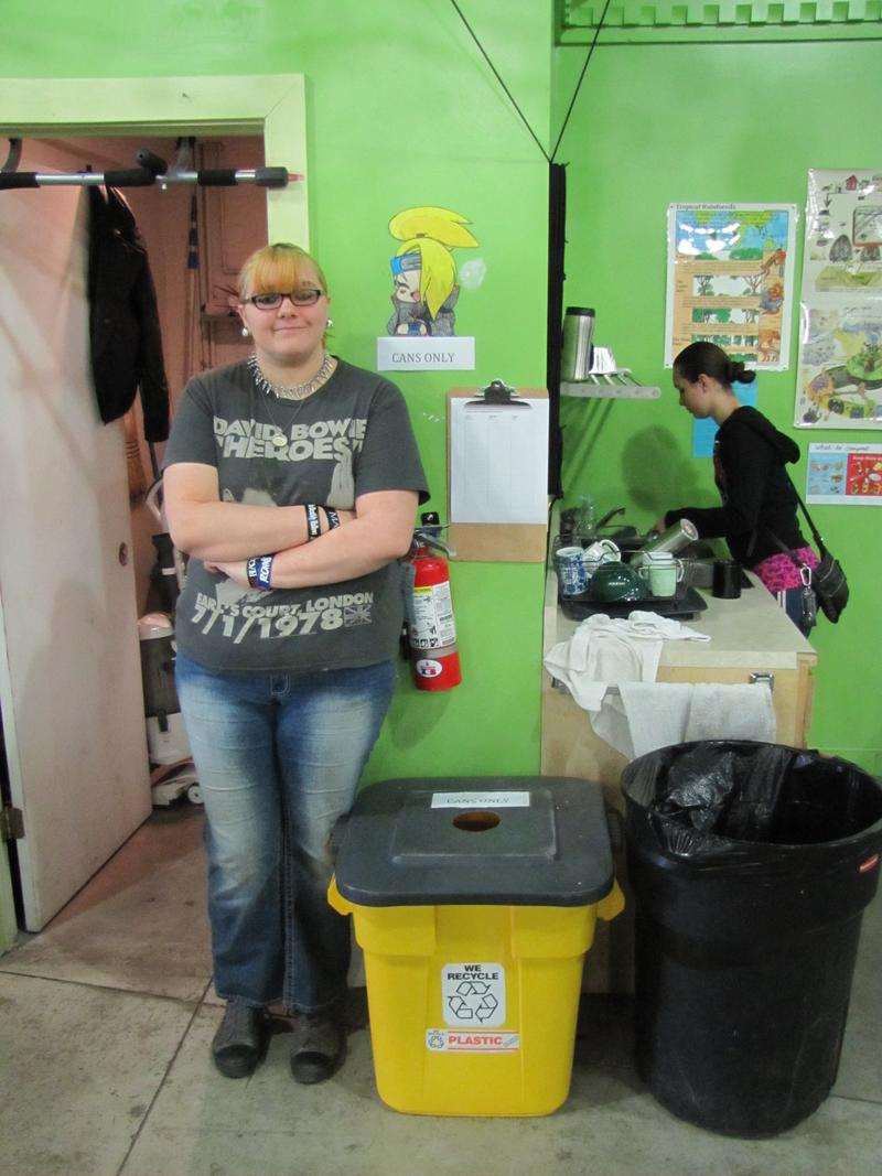 Junior Cheyenne Preston specializes in urban gardening, upcycling used materials and created the school's can recycling program.