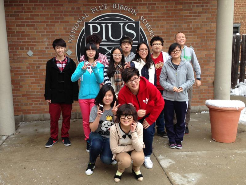 Pius XI on Milwaukee's west side is one of several parochial schools hosting students from China.