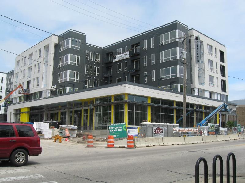 The new East Library is under construction. It is at the corner of Kramer and North.