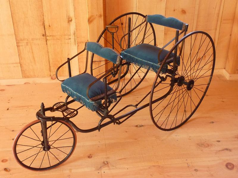"An authentic 19th-century children's tricycle is one artifcact on display at ""Catch Wheel Fever."""