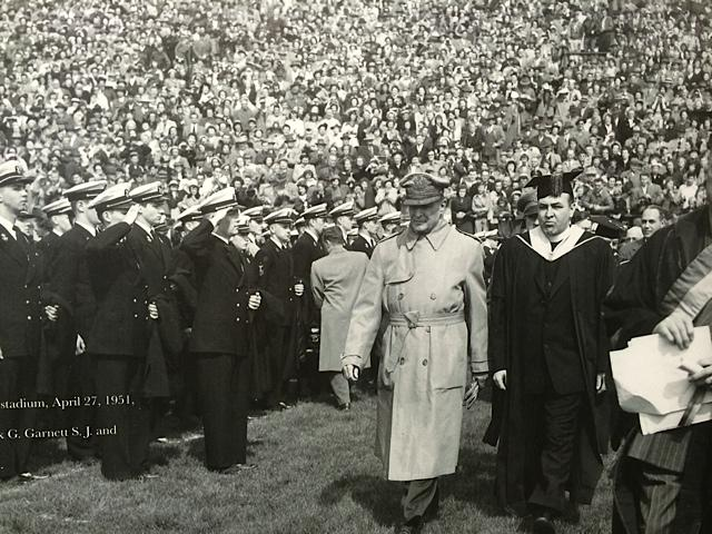 General Douglas MacArthur visits Milwaukee in 1951.
