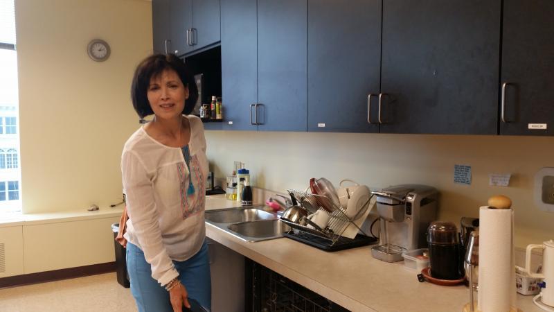 Chef Maria Liberati in WUWM's kitchen