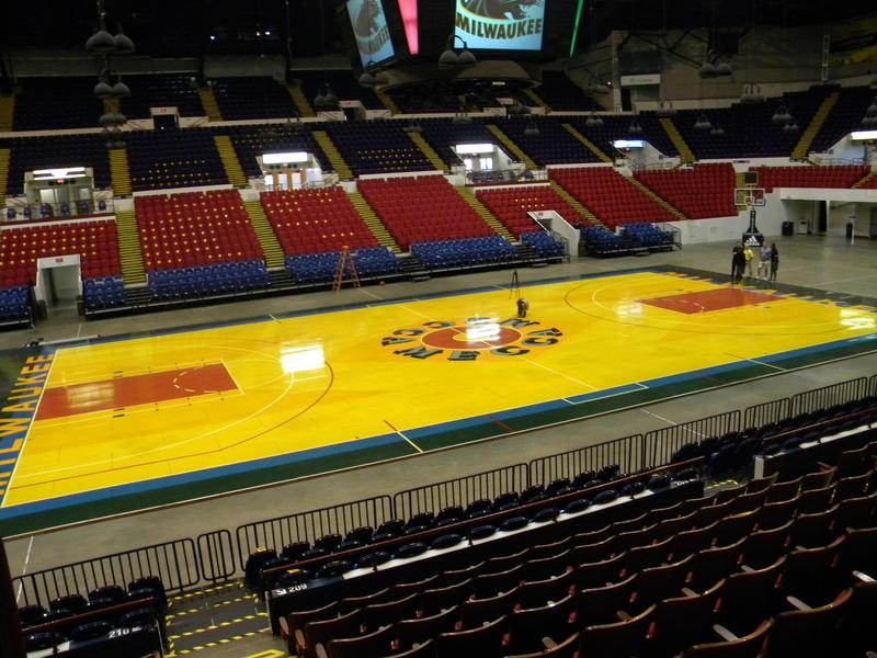 MECCA basketball court floor shown at the U.S. Cellular Arena back in 2013.