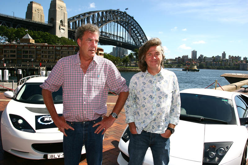 """Top Gear"" hosts Jeremy Clarkson (left) and James May. Clarkson was recently fired from the BBC show following a fight with a producer."