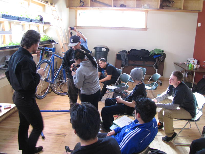 Spring 2014 - Jorian Gorian taught his first group of neighborhood high school students at the Menomonee Valley Urban Ecology Center