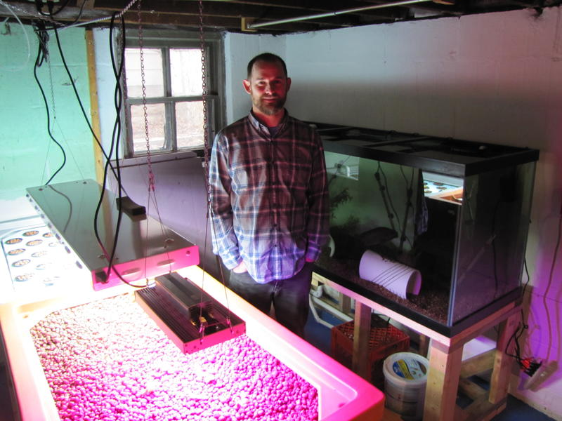 Jesse Blom shares his aquaponics skills at Heart Haus in Bay View.