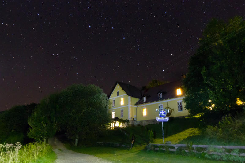 The Big Dipper is a distinct constellation easily visible, even in the city.