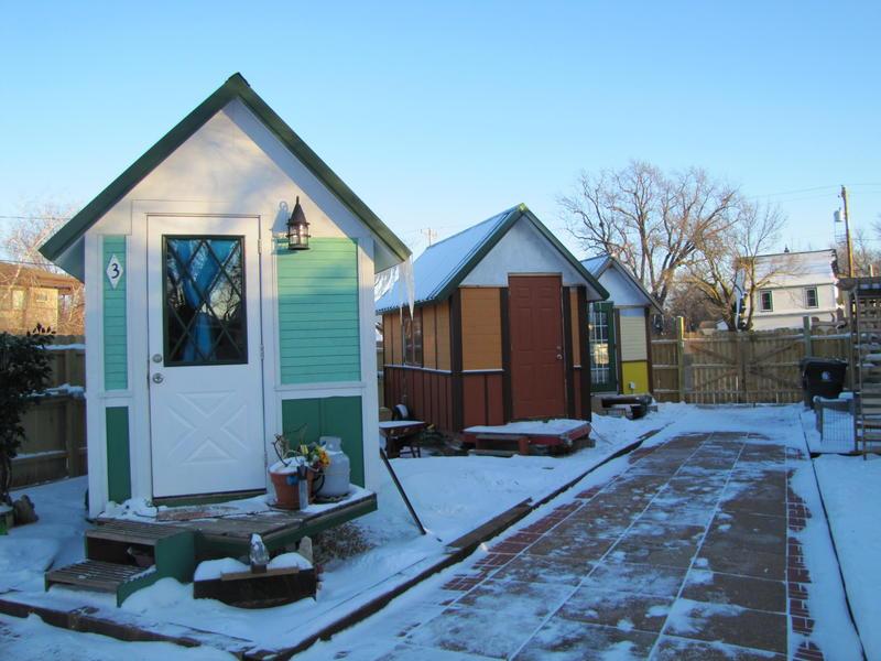 Wintery tiny houses