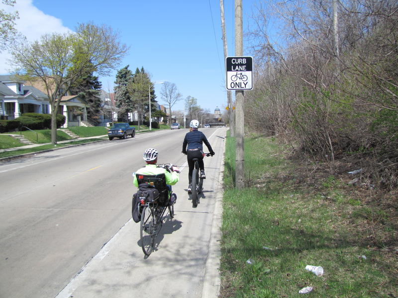 Cheri Briscoe says biking etiquette and safety are emphasized in the new Oak Leaf Trail map.