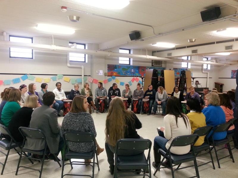 Drum Circle at Northwest Catholic