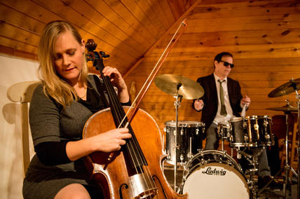 Janet Schiff (with her cello made in 1913) and Victor DeLorenzo