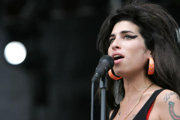 Amy Winehouse performing at the Virgin Festival in 2007.